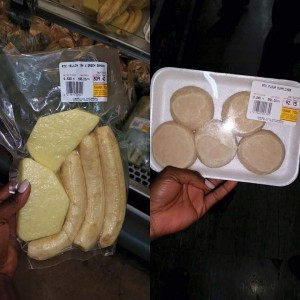 Dumpling Yam and Banana in stores