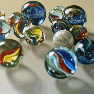 Who use to play marbles in a circle?
